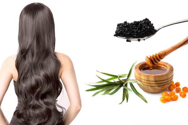Маска с черной икрой для волос