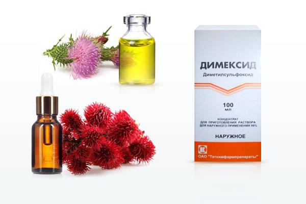 Димексид с касторовым маслом и маски для роста волос