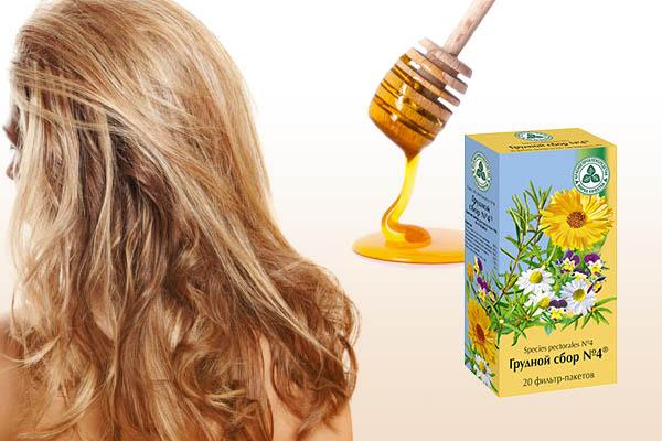Маска для объема и густоты волос с мёдом