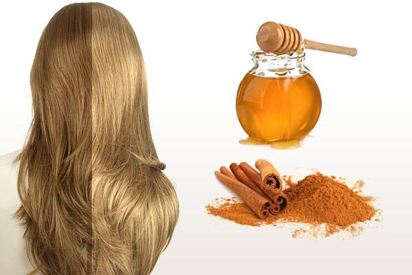 Корица и мёд в маске для осветления волос