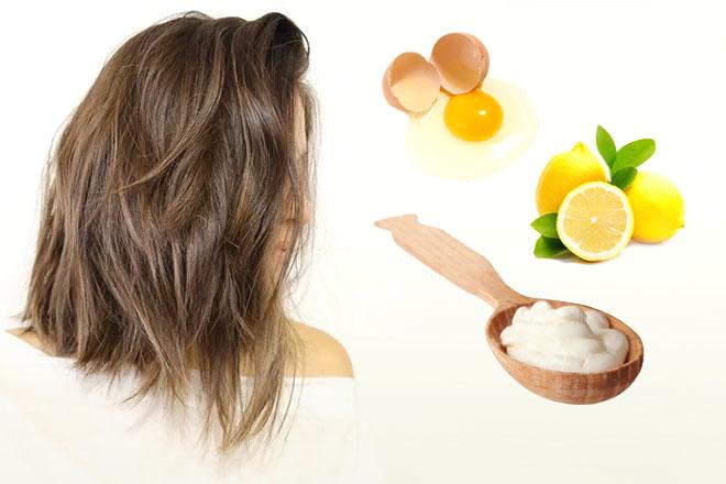 Маска для сухих волос со сметаной, желтком яйца и лимоном