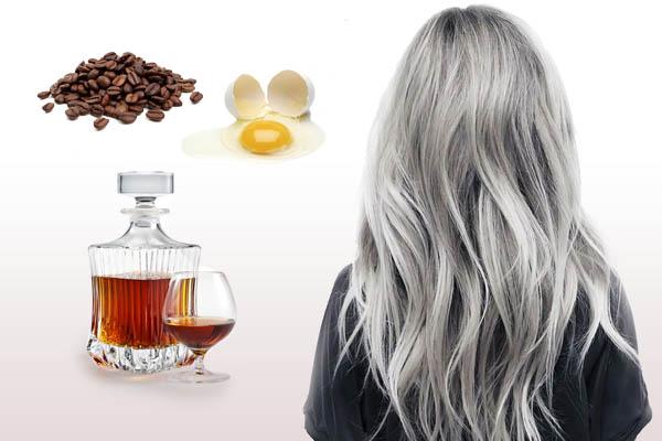 Кофе, коньяк и яйцо для волос