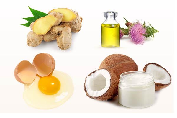 Маска с кокосовым и репейным маслом для роста волос