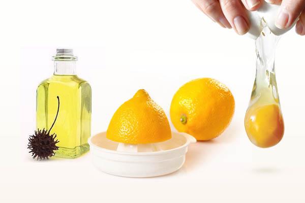 Лимонная маска с яйцом от перхоти