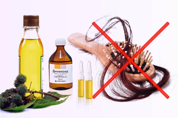Маска против выпадения волос с димексидом и витаминами