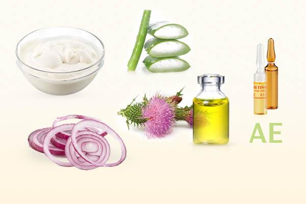 Маска для увлажнения волос с алоэ и витаминами