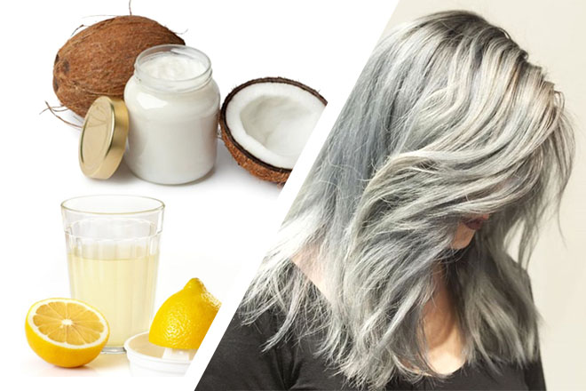 Маска из кокосового масла против седины