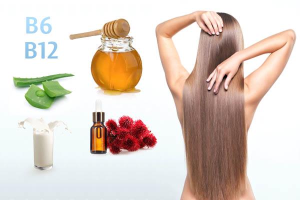 Маска — мёд, алоэ, витамины B6, B12 для стимуляции роста волос