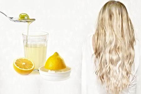 Лимонная маска для отбеливания волос с оливковым маслом