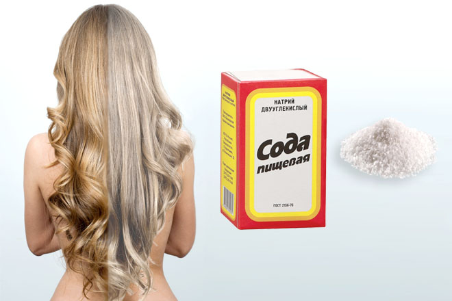 Сода и соль для смывки краски с волос